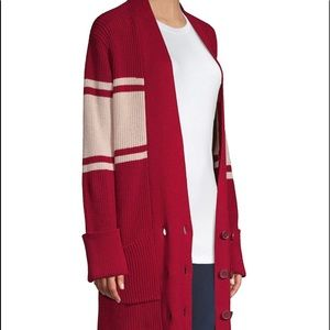 Joie Red and White Cardigan